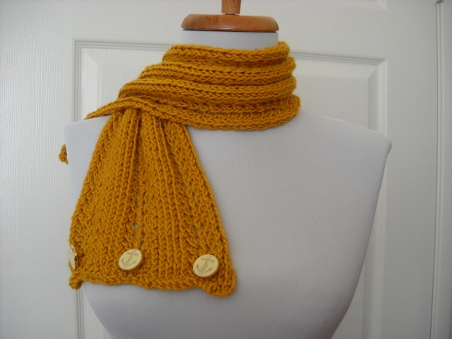 Knitting Ssk Instructions : Free knit pattern trio lace scarfett marilynknits