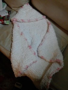 fluffy hooded blankie